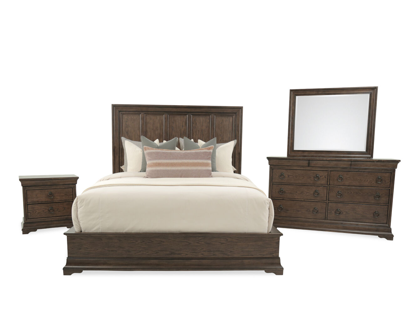 Pulaski Lindale Brown Bedroom Suite Mathis Brothers