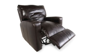 USA Leather Tobacco Rocker Recliner