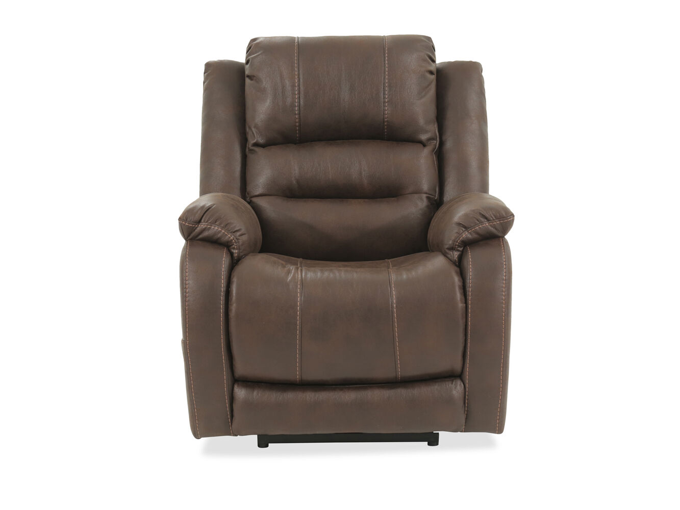 Ashley Walnut Barling Power Recliner Mathis Brothers