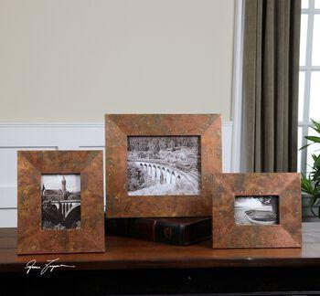 Uttermost Ambrosia Copper Photo Frames S/3