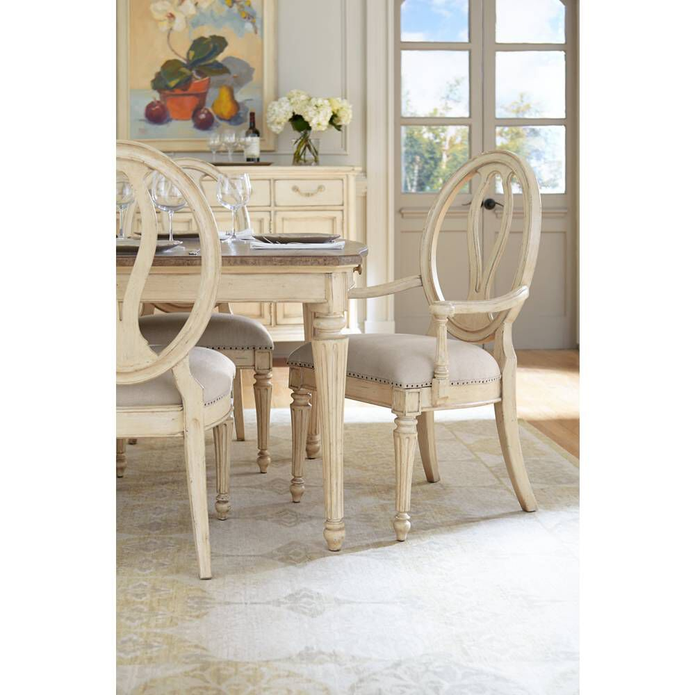 Stanley European Cottage Vintage White Dining Table