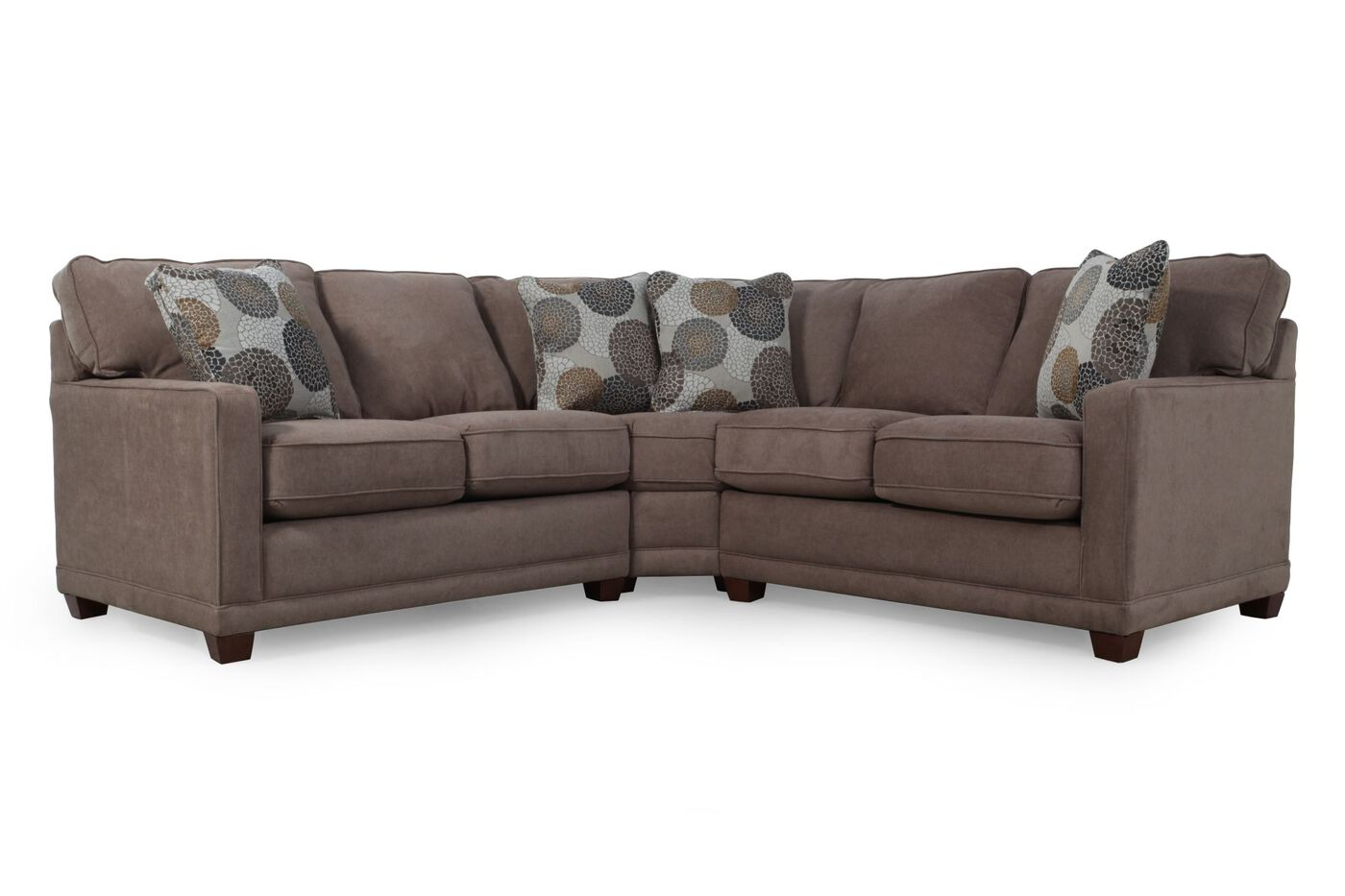 La z boy kennedy cashmere sectional mathis brothers for Sectional sofa mathis brothers