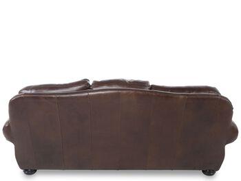 USA Leather Oak Paisley Sofa