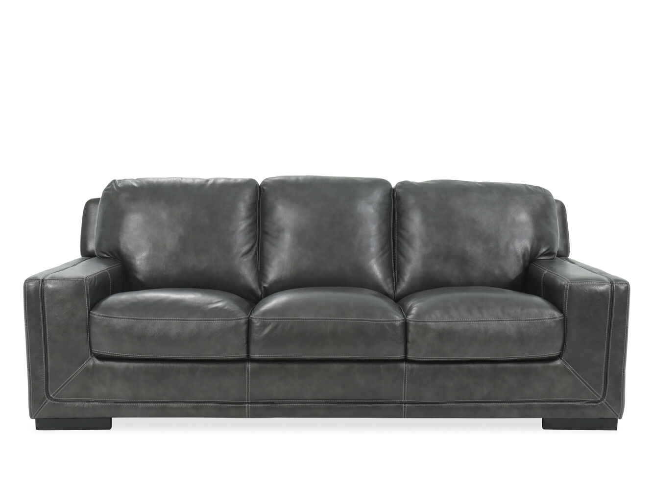 Simon li las vegas pewter leather sofa mathis brothers furniture living room