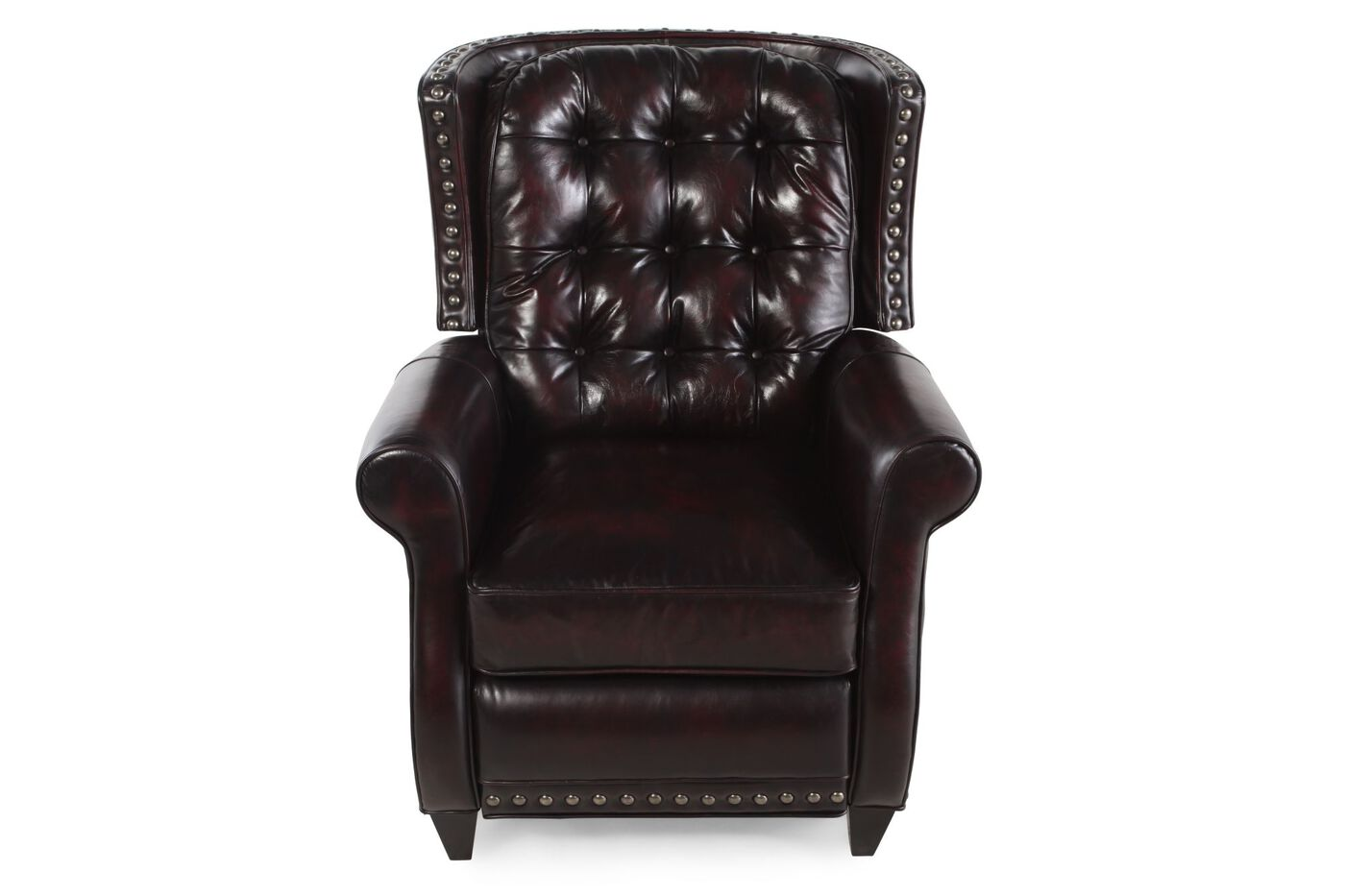 Bernhardt Brown Leather Pierce Recliner Mathis Brothers