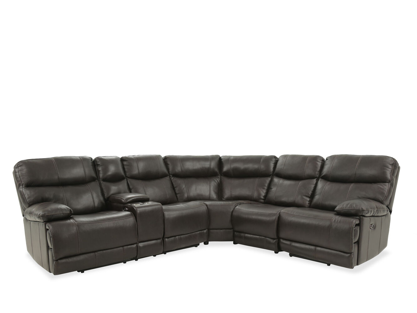 Verona Havana Brown Four Piece Sectional Mathis Brothers Furniture