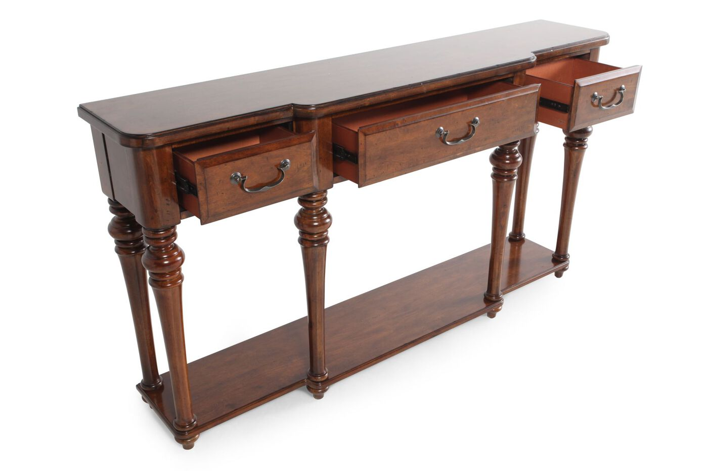 Hooker select tynecastle console table mathis brothers for Sofa table vs console table