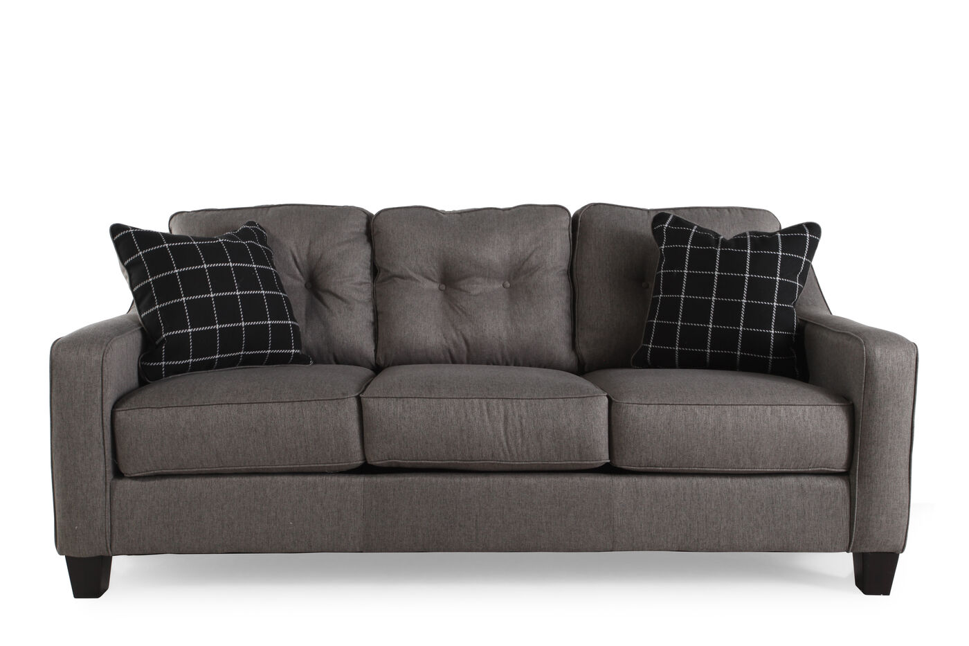Ashley Brinden Charcoal Sofa Mathis Brothers Furniture