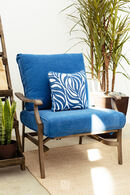 Ashley Partanna Blue Lounge Chair