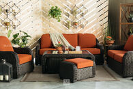 World Source Lakewood Orange Sofa