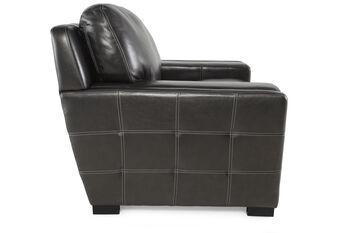 Simon Li Las Vegas Pewter Leather Chair