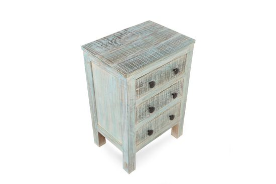 Ashley Vintage White Three-Drawer Table
