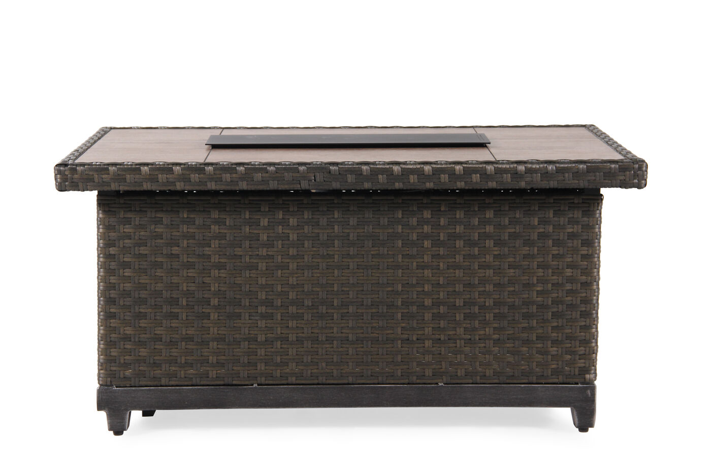 Agio Franklin Woven Fire Pit Mathis Brothers Furniture
