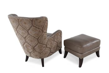 Heirlooms Longhorn Dove Chair and Ottoman