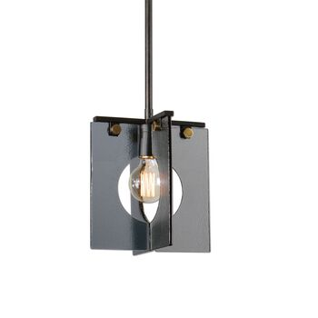 Uttermost Vitrum 1 Light Smoke Glass Mini Pendant