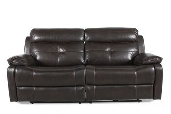 Prime Resources Metro Java Power Sofa with Recliner