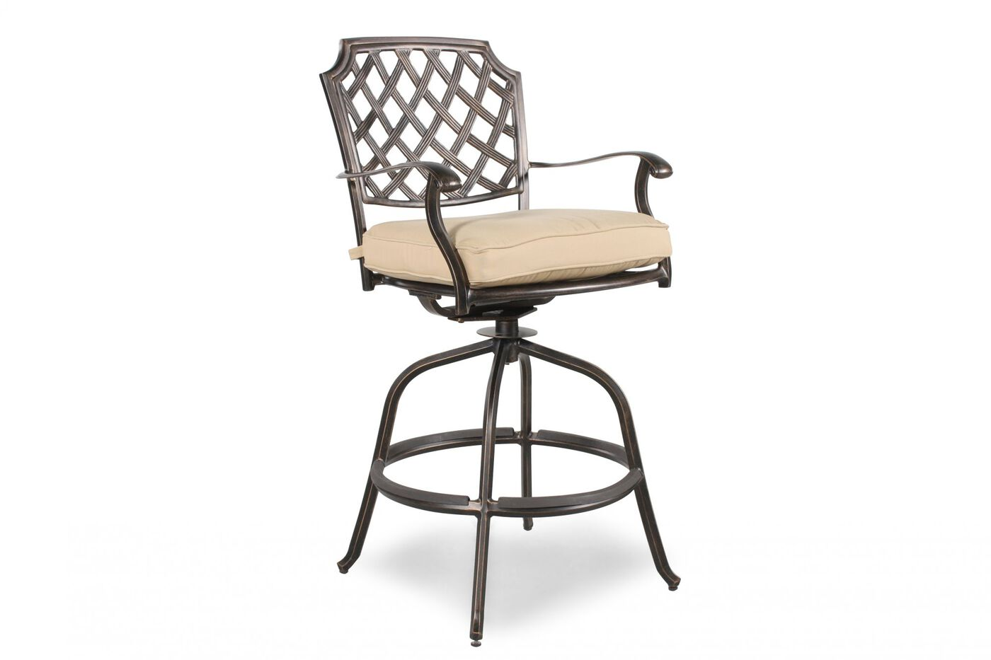 Agio Heritage Select Patio Swivel Bar Chair