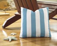 Ashley Hutto Aqua and White Pillow
