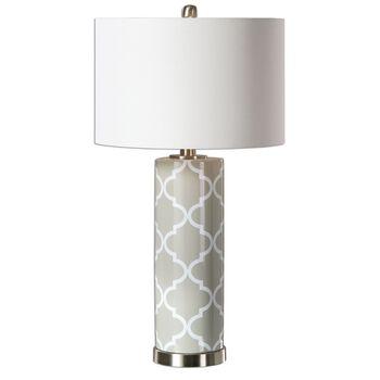 Uttermost Anzano Gray Glass Lamp