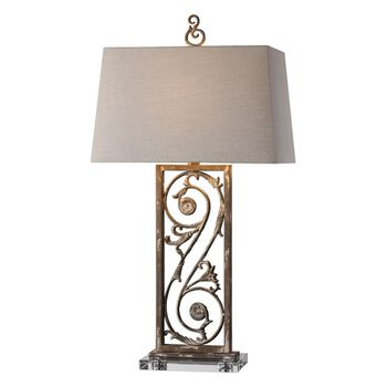 Uttermost Catania Aged White Table Lamp
