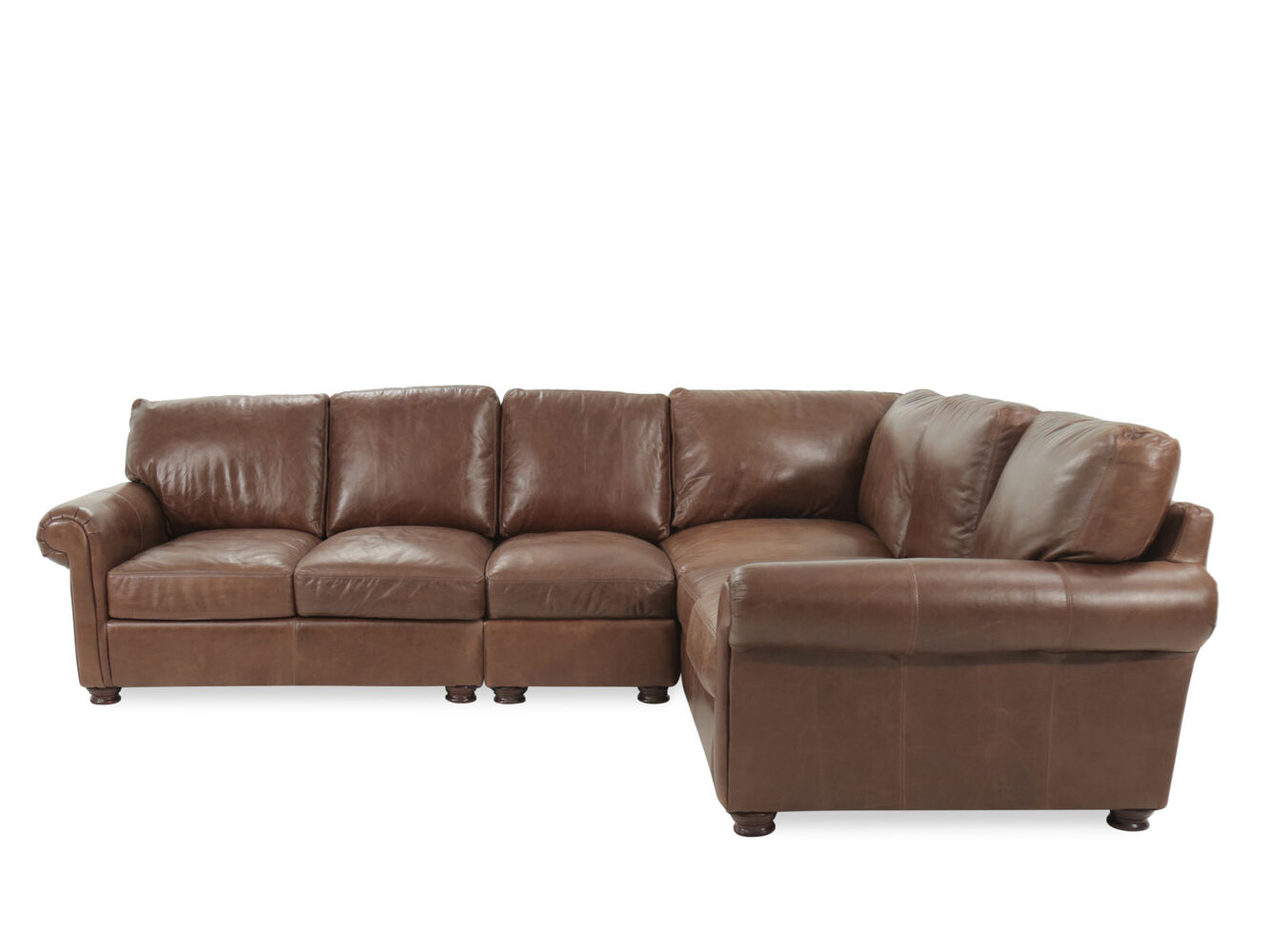 USA Premium Leather Brompton Natural Four Piece Sectional Mathis