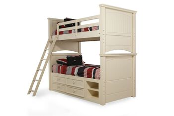 Legacy Summer Breeze Cottage White Twin Bunkbed with Storage