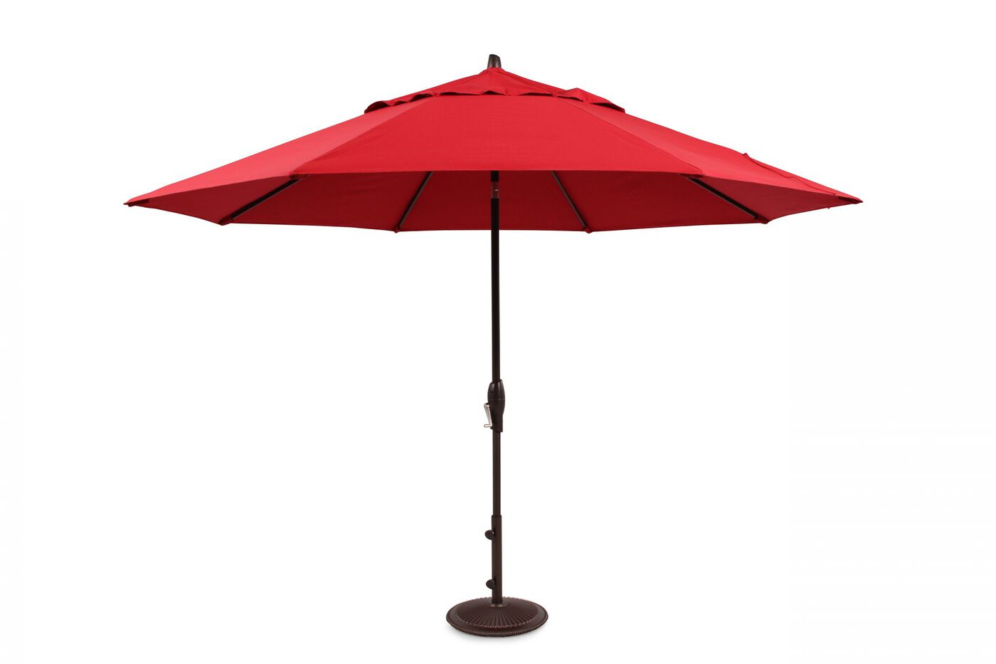 Red Patio Umbrella By Treasure Garden Mathis Brothers