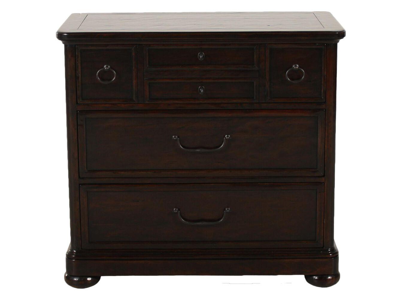 Bernhardt vintage patina bachelor 39 s chest mathis brothers furniture for Bernhardt vintage patina bedroom
