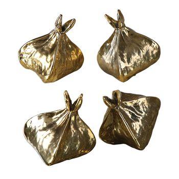 Uttermost Box Fruit Gold Sculptures S/4