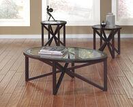 Ashley Sleffine Dark Brown Occasional Table Set