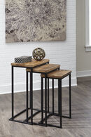 Ashley Marxim Brown and Black Nesting End Tables