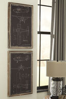 Ashley Odhran Black/Natural Wall Decor Set (2/cn)