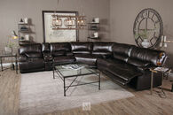 Simon Li Leather Longhorn Blackberry Sofa