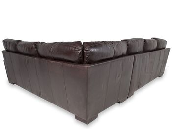 USA Leather Tobacco Two-Piece Sectional