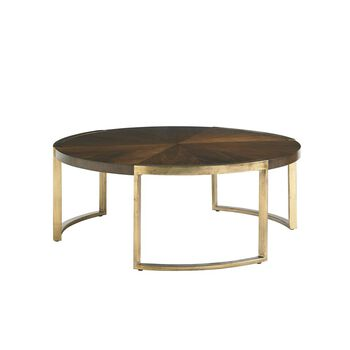 Stanley Crestaire Porter Autry Round Cocktail Table