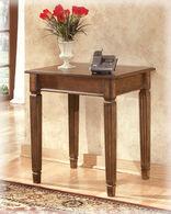 Ashley Hamlyn Brown Home Office Corner Table