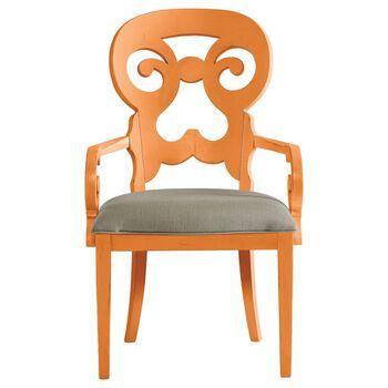 Stanley Coastal Living Retreat Spanish Orange Wayfarer Arm Chair