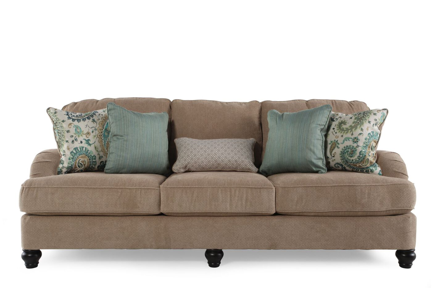 Ashley lochian bisque sofa mathis brothers furniture for Furniture furniture