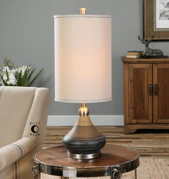 Uttermost Warley Aged Black Table Lamp