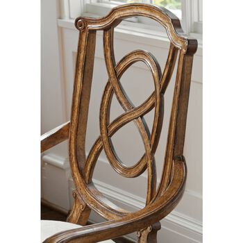 Stanley Arrondissement Heirloom Cherry Tuileries Arm Chair