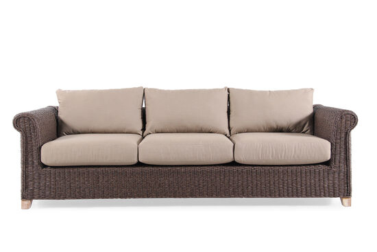 World Source Vineyard Haven Teak Wicker Sofa