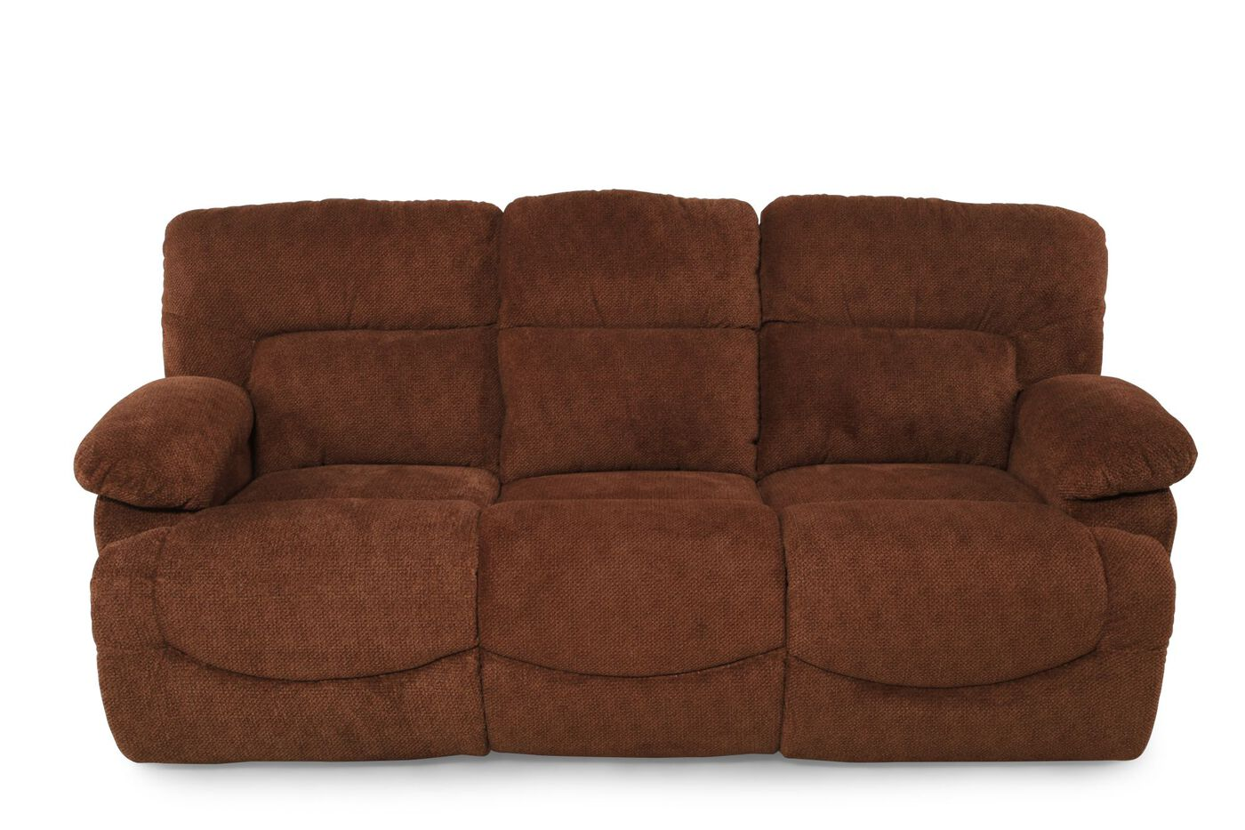 La Z Boy Asher Caramel Recliner Sofa Mathis Brothers