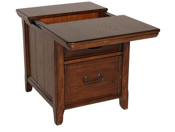 Ashley Woodboro End Table with Workspace