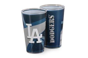 MLB Los Angeles Dodgers Pint Glass Twin Pack