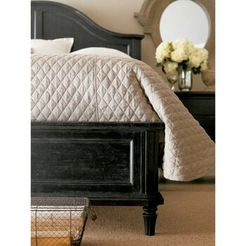 Stanley European Cottage Chalkboard California King Panel Bed