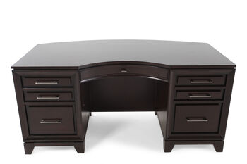 "Aspen Viewscape 66"" Curved Executive Desk"
