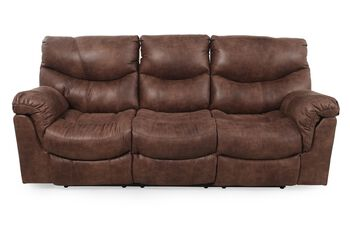 Ashley alezna gunsmoke reclining sofa mathis brothers for Sofa bed 91762