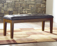 Ashley Ralene Medium Brown Large Upholstered Dining Room Bench
