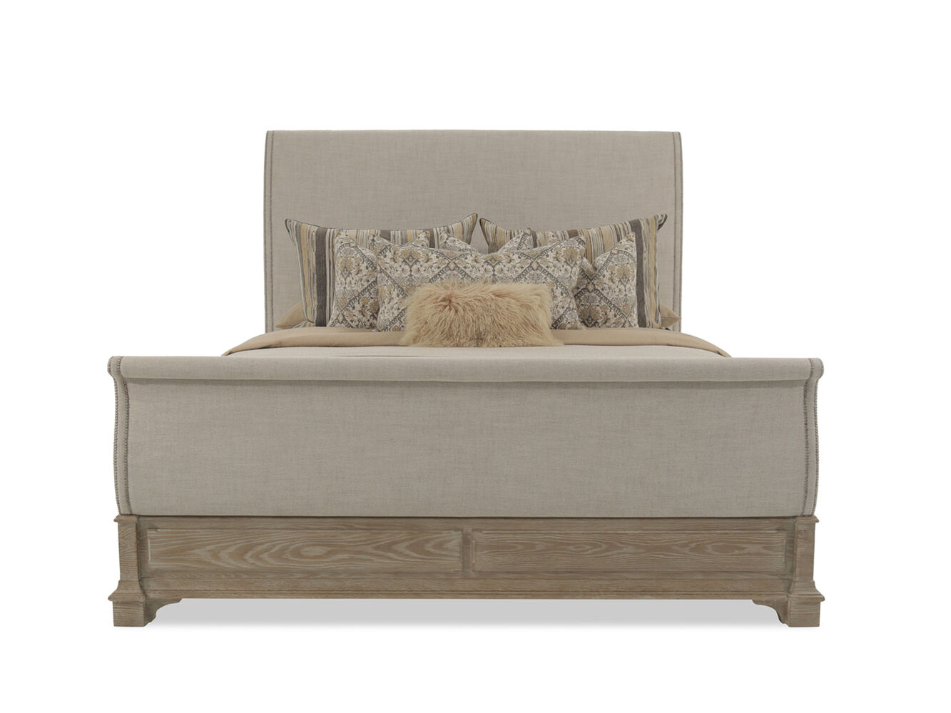Bernhardt Antiquarian Wheat Sleigh Bed