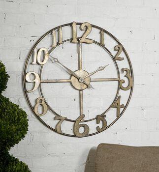 "Uttermost Delevan 32"" Metal Wall Clock"